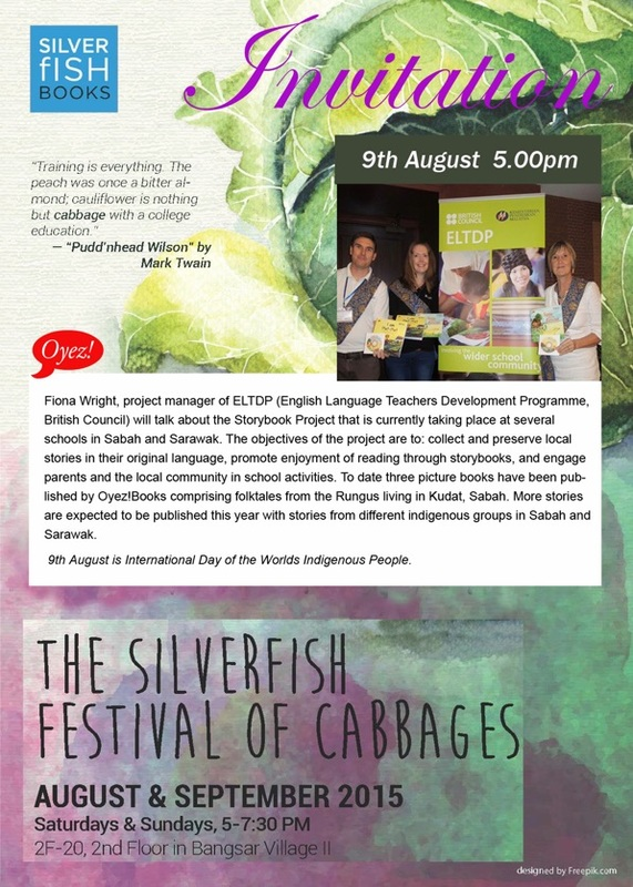 The Storybook Project by British Council - talk at the Silverfish Festival of Cabbages