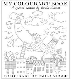 My Colourart Book - custom colouring book, illustrations by Emila Yusof