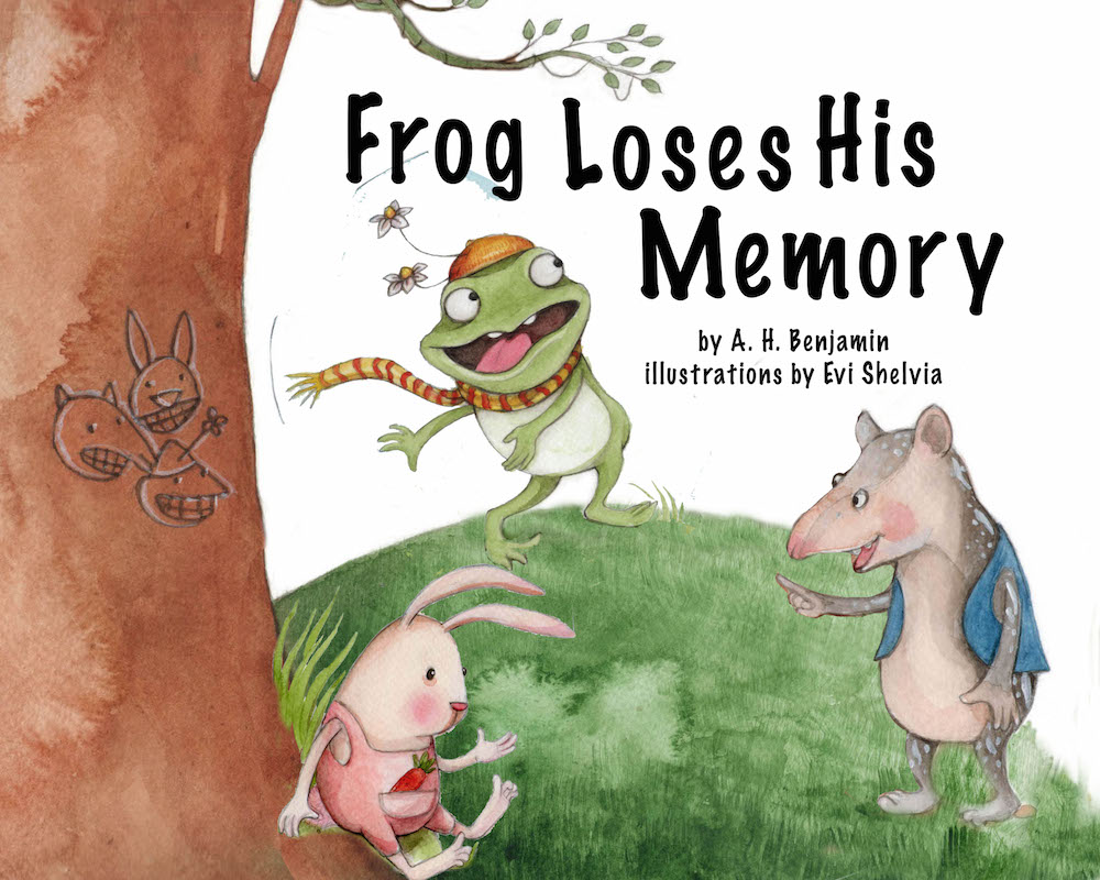 Frog Loses His Memory - children's picture book by A.H. Benjamin, illustrated by Evi Shelvia, published by Oyez!Books