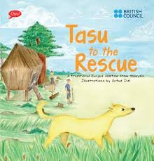 Tasu to the Rescue - a traditional Rungus folktale published as a children's picture book  by Oyez!Books in collaboration with the British Council, illustrations by Antut Didi