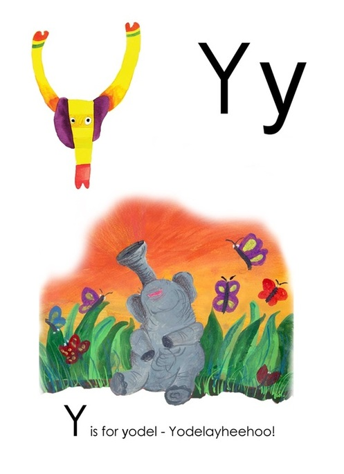 Y is for Yodel - Yusof Gajah's ABC, an alphabet book illustrated by Yusof Gajah, published by Oyez!Books