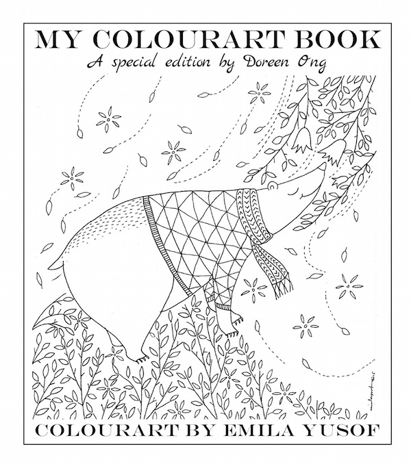 Special Edition Colourart by Emila Yusof, colouring books for adults published by Oyez!Books