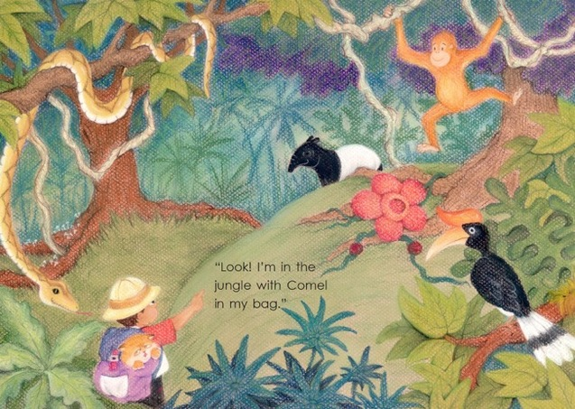 Adik in the jungle - Atuk's Amazing Sarong - children's picture book by Lim Lay Har, illustrations by Lim Lay Koon, published by Oyez!Books