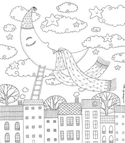 Dream World Colourart - adult colouring books by Emila Yusof