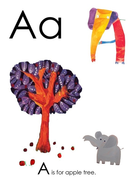 A is for Apple Tree - Yusof Gajah's ABC, an alphabet book illustrated by Yusof Gajah, published by Oyez!Books