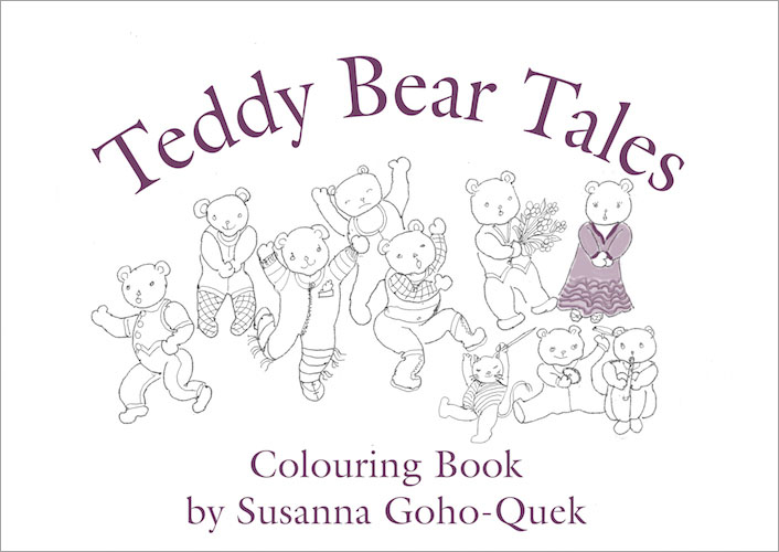 Teddy Bear Tales Colouring Book by Susanna Goho-Quek, published by Oyez!Books