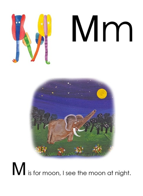 M is for Moon - Yusof Gajah's ABC, an alphabet book illustrated by Yusof Gajah, published by Oyez!Books