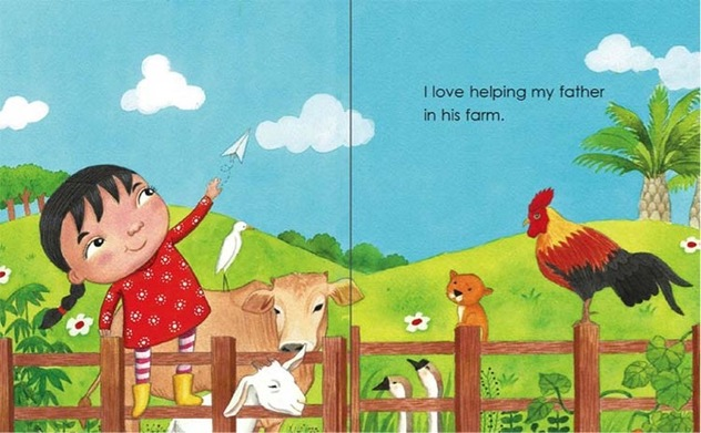 My Father's Farm by Emila Yusof, third children's picture book in the Dina series published by Oyez!Books