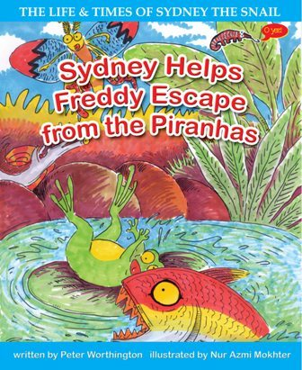 PETER WORTHINGTON, SYDNEY HELPS FREDDY ESCAPE FROM THE PIRANHAS, EARLY READER