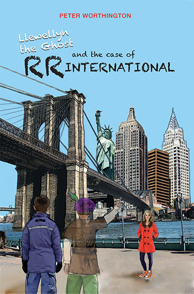 The Case of RR International - Book 2 of Llewellyn the Ghost chapter book series by Peter Worthington published by Oyez!Books