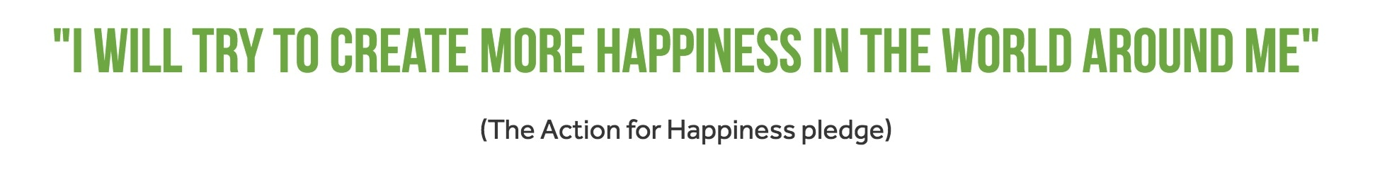 International Day of Happiness pledge