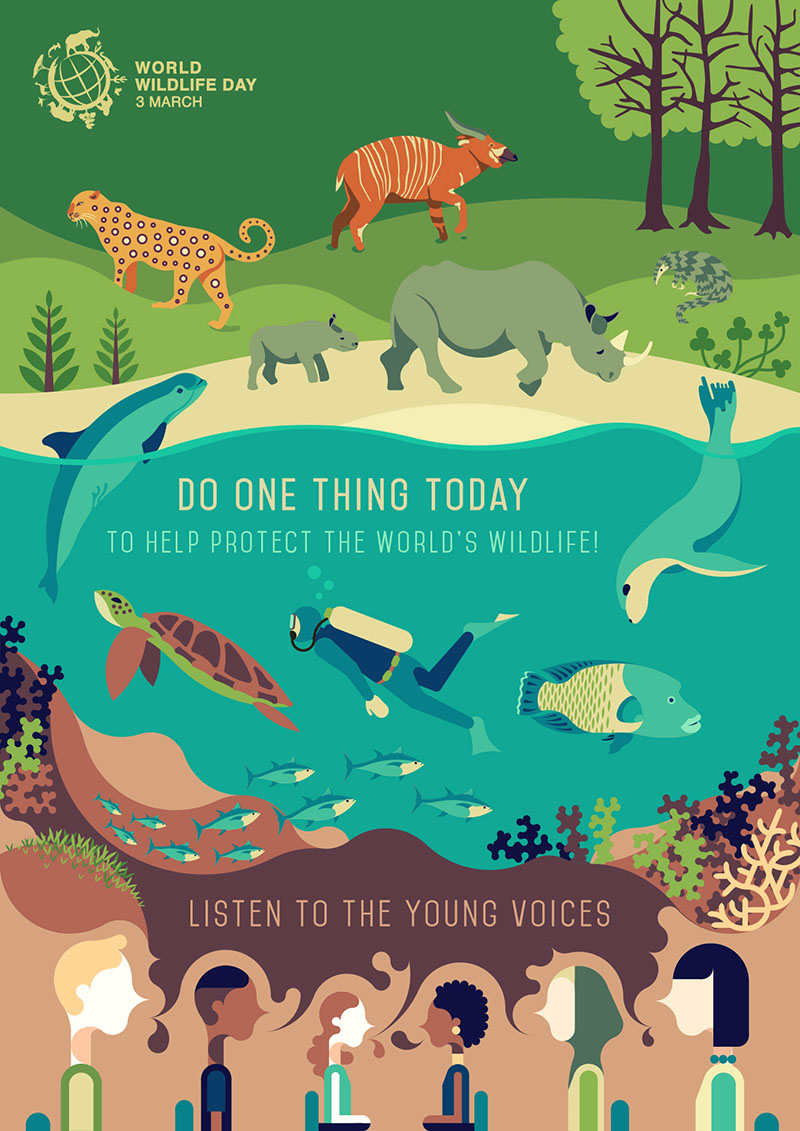World Wildlife Day 2017 Poster