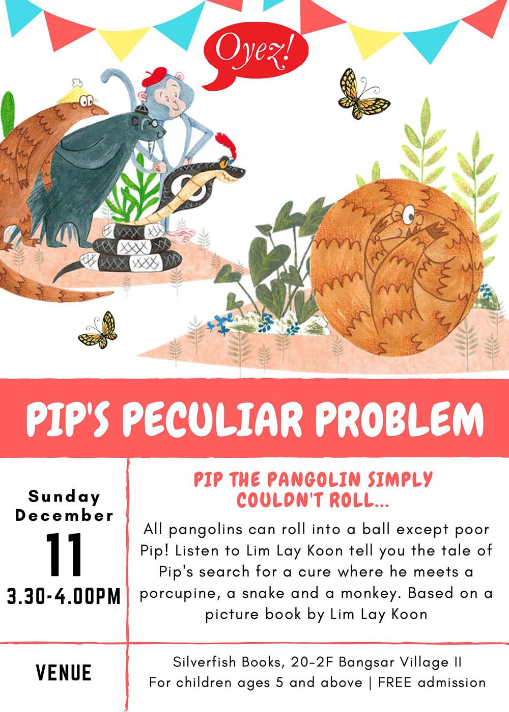 Pip's Peculiar Problem - storytime based on children's picture book by Lim Lay Koon, published by Oyez!Books
