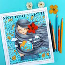 Mother Earth, first in the adult colouring book series Colourart by Emila Yusof