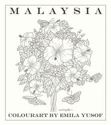 Malaysia - latest adult colouring book in the Colourart series by Emila Yusof