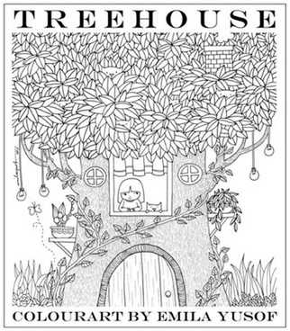 Treehouse, fourth adult colouring book in the Colourart series by Emila Yusof, published by Oyez!Books