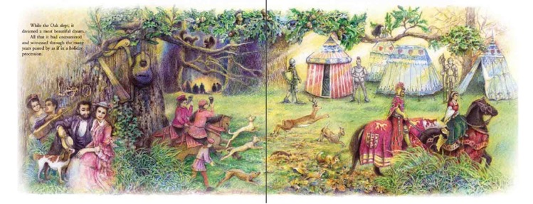 The Last Dream of the Old Oak Tree, Hans Christian Andersen, Illustrations by Chooi Ling Keiong, Oyez!Books picture book
