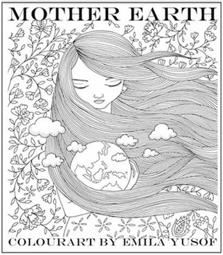 Mother Earth, first adult colouring book in the Colourart series by Emila Yusof, published by Oyez!Books