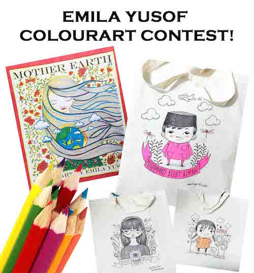 Emila Yusof Colourart Contest, OyezBooks colouring contest