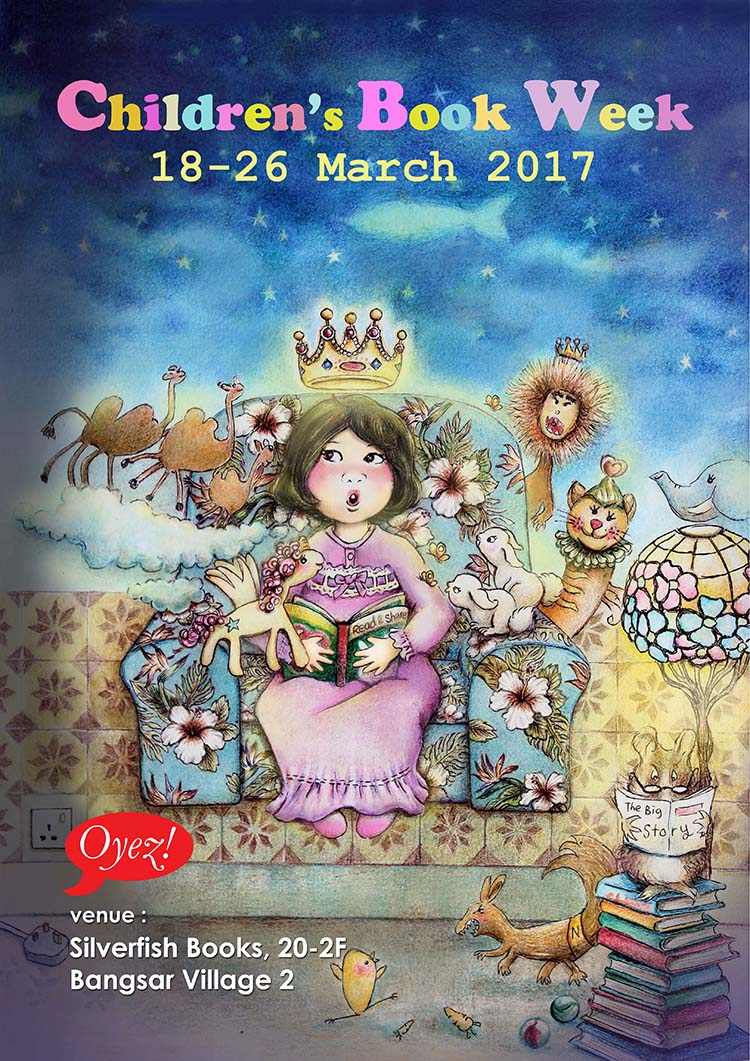Winner of Oyez! Children's Book Week March 2017 Poster Contest by Chooi Ling Keiong